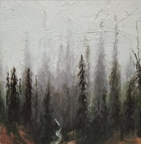 alyssa monks, Trees, 2017, oil on panel, 12 x 12 inches