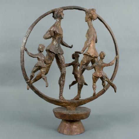 Chaim Gross Happy Children, 1968, bronze, 30 x 24 x 14 inches, Edition of 6
