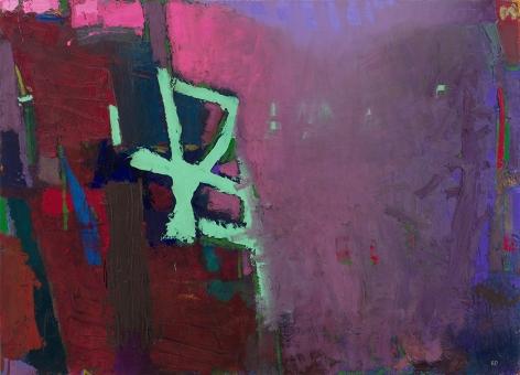 brian rutenberg, Raindrops, 2014, oil on linen, 60 x 83 inches