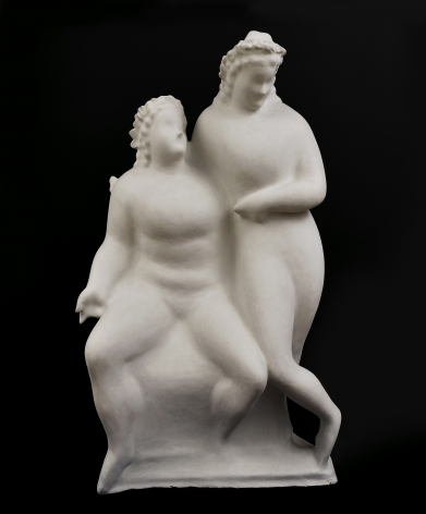 elie nadelman, Two Circus Women, c. 1928-29, plaster, 59 x 35 x 21 inches
