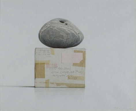 Alan Magee, Stone on Wakefield Box (Robin Hunt) (SOLD), watercolor and pencil on paper, 15 1/4 x 19 inches