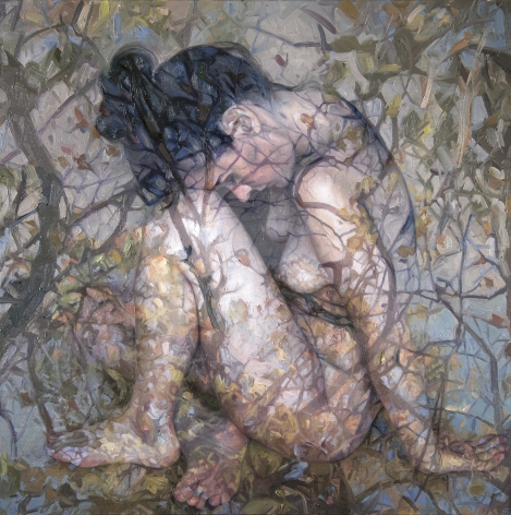 Alyssa Monks, Homecoming (SOLD), 2018, oil on linen, 32 x 32 inches