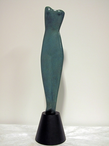 "Alexander Archipenko, Hollywood Torso, 1936, bronze, 34 5/8 h x 8 1/4 x w 8 1/4 d inches, edition 6/6, lifetime cast, post humous finish, inscribed ""Archipenko 1936 6/6"", Frances Archipenko Gray Collection"