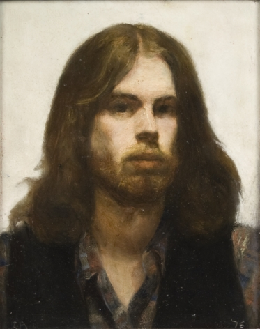 Steven Assael, Self Portrait, 1976, oil on masonite, 10 x 8 inches