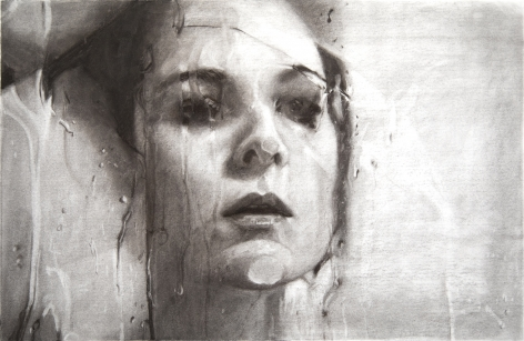 Alyssa Monks, Transfixed, 2020, vine charcoal on paper,15 1/8 x 22 7/8 inches