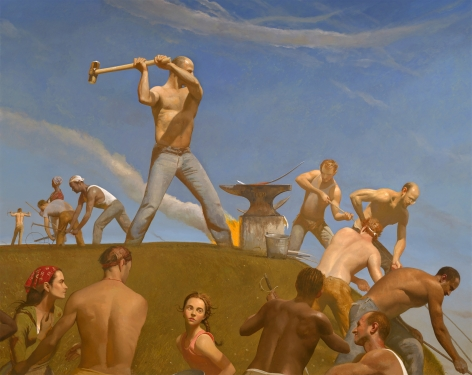 Bo Bartlett, The Forge (Swords into Plowshares), 2008 oil on linen 126 x 158 inches