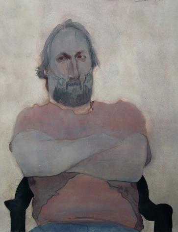 David Levine, Strong Man, 1993, watercolor on paper, 17 7/16 x 13 inches