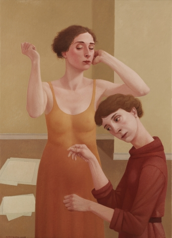 alan feltus, Puppeteer, 2008, oil on canvas, 43 1/4 x 31 1/2 inches