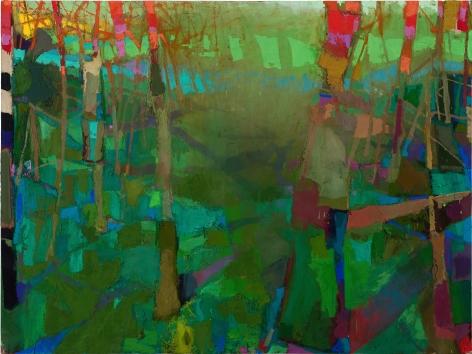 Brian Rutenberg, Camellia (SOLD), 2011, oil on linen, 60 x 80 inches