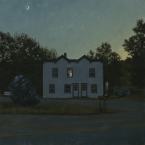 linden frederick, Patriot (SOLD), 2014, oil on linen, 34 x 34 inches
