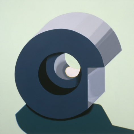 Robert Cottingham, Component IXXX, 2005, gouache on paper, 5 1/2 x 5 1/2 inches