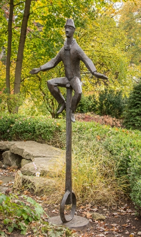 Chaim Gross, Unicyclist, 1975, bronze, 90 x 37 inches, Edition 6/6