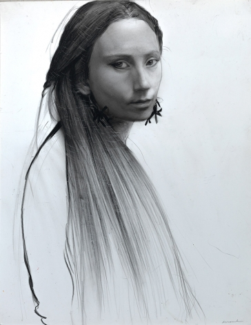 steven asseal, Alansa (SOLD), 2015, crayon with graphite on paper, 14 x 11 inches