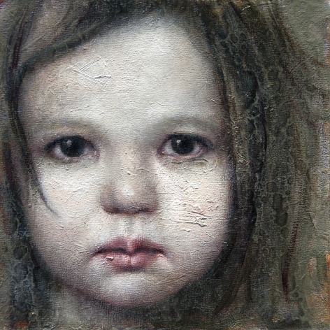 alyssa monks, Tess, Study, 2014, oil on panel, 8 x 8 inches