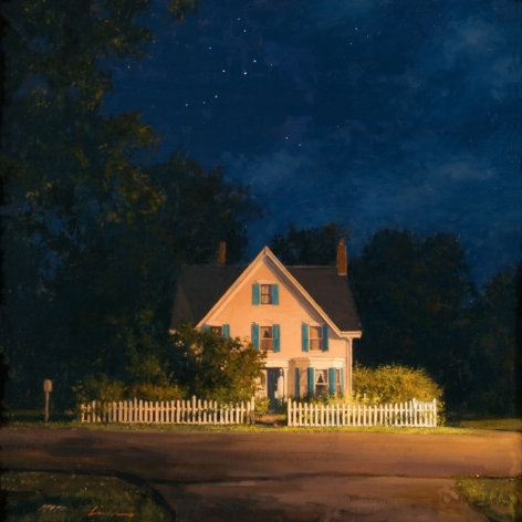 Linden Frederick, Cassiopeia (SOLD), 2008, oil on panel, 12 1/4 x 12 1/4 inches