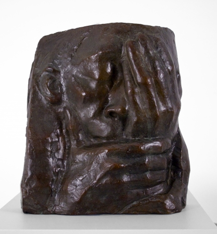 Kathe Kollwitz, Grief (also known as Lamentation, Memorial for Ernst Barlach), 1938-40, bronze, 10 1/4 x 10 x 3 3/4 inches