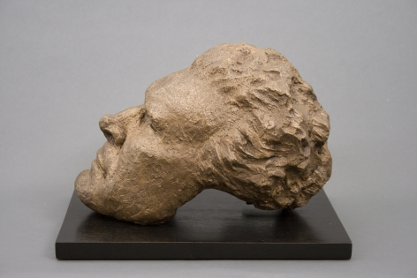 Hugo Robus, Mask (self portrait), 1940, bronze 8 x 6 1/2 x 10 1/2