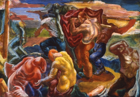 James H. Daugherty, Lynching, 1925-27, oil on canvas, 24 x 35 inches