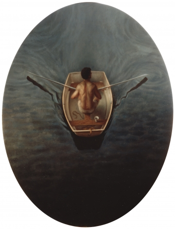 wade schuman, Passages: Rowing Man, 1999 oil on linen 66 x 48 inches