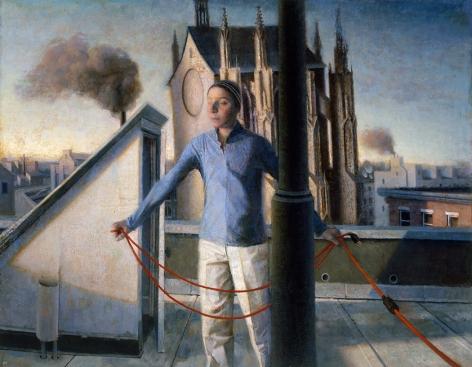 paul fenniak, Rooftop, 2013, oil on canvas, 54 x 42 inches