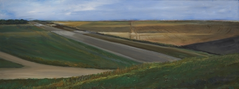 William Beckman, Montana Study, 2019, oil on panel, 8 7/8 x 23 3/8 inches