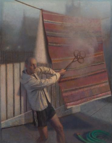 paul fenniak, Unsettled Dust, 2015, oil on canvas, 46 x 36 inches