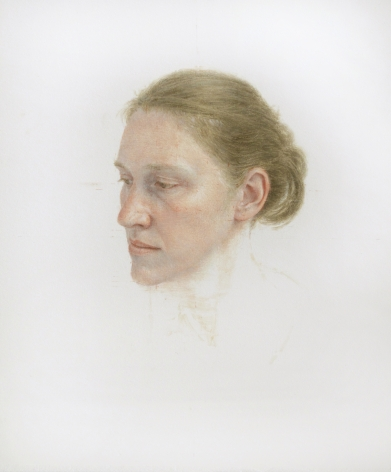 robert bauer, Erica, 2010, egg tempera on paper, 12 x 10 inches