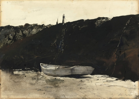 Andrew Wyeth, Teel's Landing, 1953 watercolor on paper 19 x 28 inches