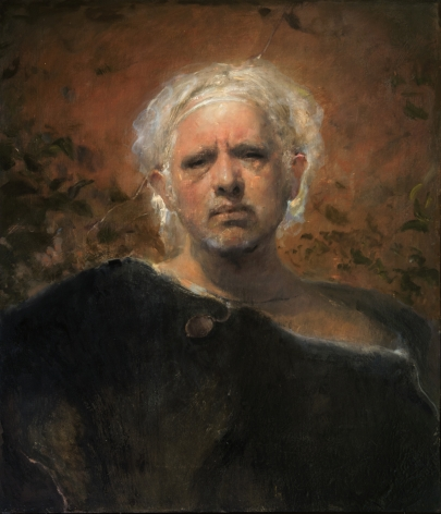 odd nerdrum, Black Fur, oil on canvas, 29 1/2 x 25 1/2 inches