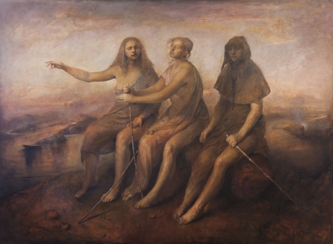 odd nerdrum, You See We Are Blind, oil on canvas, 73 x 100 3/4 inches