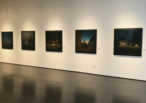 installation photo: Linden Frederick: Night Stories, Forum Gallery, New York, NY, May 11 - June 30, 2017