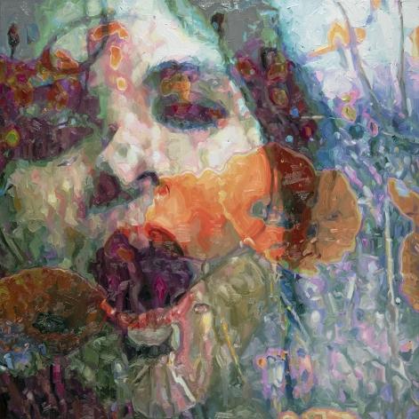 Alyssa Monks, Roar, 2019, oil on linen, 36 x 36 inches