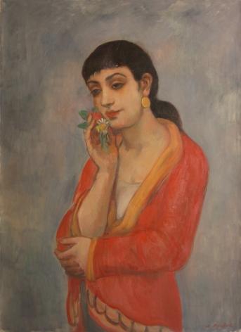Bernard Karfiol, Havana Beauty, c.1945, oil on canvas, 30 x 22 inches