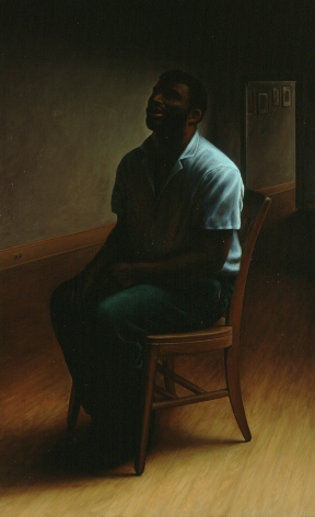 wade schuman, Blind Singer, 1992-94, oil on linen, 72 x 44  inches