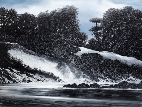 tula telfair, Set to Run For Eternity, 2019, oil on canvas, 68 x 90 inches