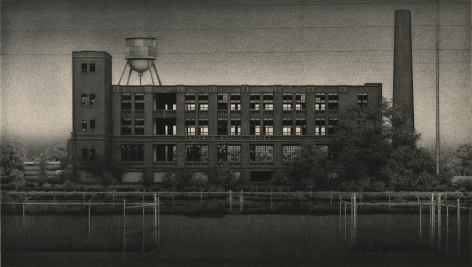 anthony mitri, Clothcraft Clothes, Cleveland, Ohio, 2009, charcoal on paper, 21 1/2 x 38 inches