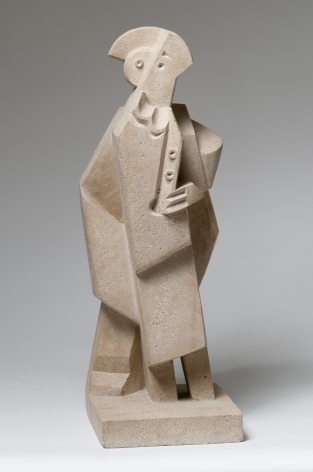 Jacques Lipchitz, Harlequin with Clarinet, 1920, limestone, 29 3/4 h x 10 1/18 w x 10 3/4 d inches, unique