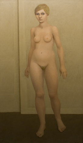 William Bailey, Hilary, 1963, oil on canvas, 49 1/2 x 27 1/2 inches