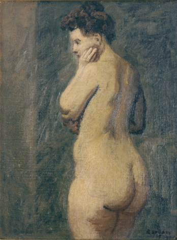 Raphael Soyer, Nude, n.d., oil on canvas, 16 x 12 inches