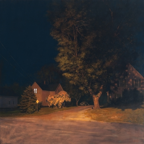 Linden Frederick Midnight (SOLD), 2009, oil on linen, 40 x 40 inches