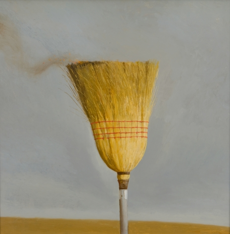 Bo Bartlett, The Broom, 2008, oil on panel, 24 x 24 inches