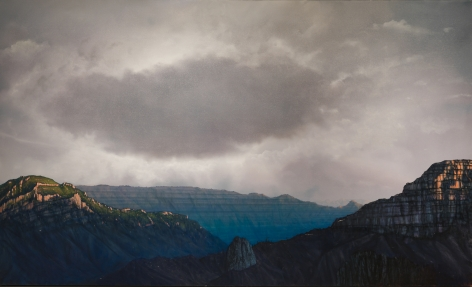 tula telfair, Wilderness Does Not Locate Itself, 2014, oil on canvas, 72 x 119 inches