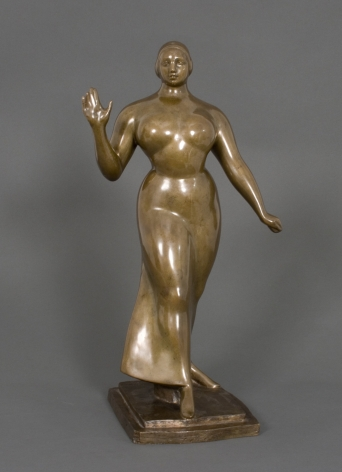 gaston lachaise, Woman Walking, 1922, polished bronze, 19 x 10 x 7 1/2 inches, Edition 6/6