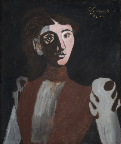 john graham, Portrait of a Woman, 1943, oil on canvas, 24 3/8 x 20 3/8 inches