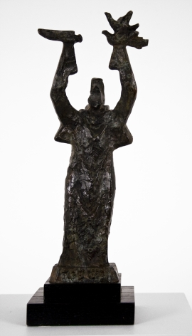 Chaim Gross, Study for Isaiah, 1976, bronze, 16 inches in height, Edition 1/6