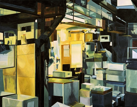 megan rye, Tsukiji Fish Market 2, 2005, oil on canvas, 42 x 54 inches