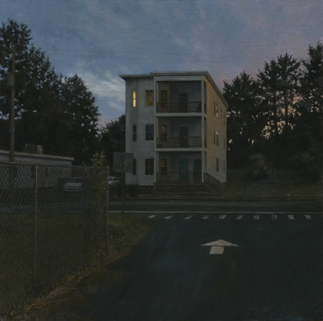 linden frederick, Triple, 2014, oil on linen, 34 x 34 inches