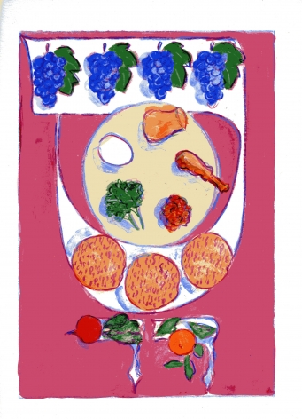 mark podwal, Seder Plate, 2011, acrylic, gouache and colored pencil on paper, 16 x 12 inches