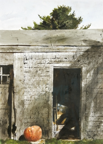 Andrew Wyeth, Maine Door, 1970 watercolor on paper 29 x 21 inches