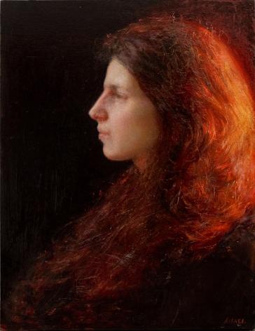 Steven Assael, Julia, 2011, oil on panel, 16 x 12 inches